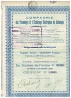 Titre Ancien - Compagnie Des Tramways Et D'Eclairage Electriques De Salonique - Société Anonyme -Titre De 1925 - - Railway & Tramway