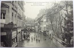 RUE DE LA SOUS-PRÉFECTURE - INONDATION DE 1910 - MONTBÉLIARD - Montbéliard