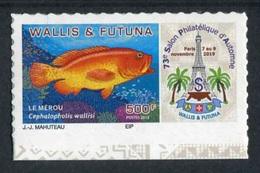 "TIMBRE Adhésif ** De 2019 En Bord De Feuille De WALLIS ET FUTUNA ""73e SALON PHILATELIQUE D'AUTOMNE - LE MEROU"" - Wallis En Futuna"