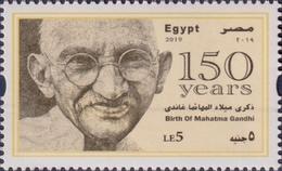 Gandhi Of India On Egypt Stamp - Mahatma Gandhi