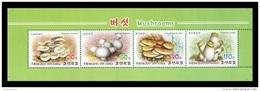 North Korea 2015 Mih. 6183/86 Flora. Mushrooms (booklet Sheet) MNH ** - Korea, North
