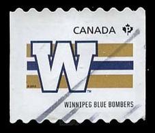 Canada (Scott No.2563 - CFL Teams) (o) Roulette / Coi - 1952-.... Règne D'Elizabeth II