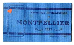 40147-ZE-34-EXPOSITION INTERNATIONALE DE MONTPELLIER 1927-----Carnet Album De 10 Vues Bleues - Montpellier