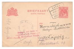 Niederlande 1918 , Zensierte Ganzsache Mit Deutschem Postvermerk - 1891-1948 (Wilhelmine)