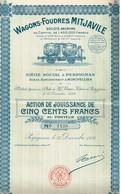 Titre Ancien - Wagons-Foudres Mitjaville  - Société Anonyme -Titre De 1924 - - Chemin De Fer & Tramway