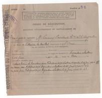 WW2 - Villedieu-lès-Bailleul (Orne). Ordre De Réquisition De 2 Bovins, 1 Veau Et 1 Porc. 14/06/1944. Pour Feldpost 31176 - Documentos Históricos