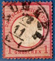 Runkel 23 11 Einkreis Auf 1 Gr Grosses Brustschild 1872, Germany 1812.3030 - Oblitérés