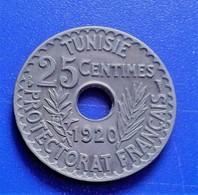 TUNISIE 25 CENTIMES 1920 SUP  (B14 17) - Tunisie