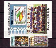 Soccer World Cup 1982 - Football - GRENADA - S/S+Set MNH - Copa Mundial