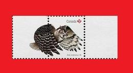 Canada 2016, Owl Birds / Oiseaux  Hibou MNH ** - Eulenvögel