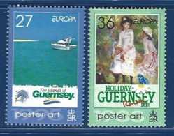 Guernsey, Yv 977/8, Europa, Poster Art  ** - Guernesey