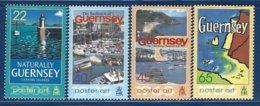 Guernsey, Yv 979/82, Poster Art  ** - Guernesey