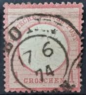 DEUTSCHES REICH 1872 - Canceled - Mi 19 - Grosses Brustschild 1g - Gebraucht