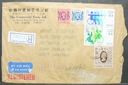 Hong Kong - Registered Cover To Germany 1982 Disabled Basketball Archery - Tiro Con L'Arco