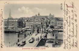 561/ Baumbrücke Mit Schloss Und Kirche, Stettin 1899 - Polen
