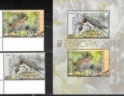 BULGARIA, 2019, MNH,EUROPA, BIRDS, 2v+S/SHEET - 2019