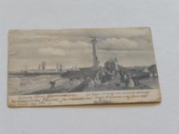 OSTENDE--La Digue D'apres Ancienne Estampe  - Envoyée NELS Serie 28 No 130 - Oostende
