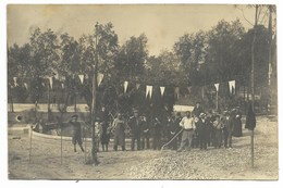33-CADILLAC-SUR-GARONNE-CARTE PHOTO-Bassin Réservoir, Travaux Avant Venue Du Ministre De L'Agriculture...  Animé - Cadillac