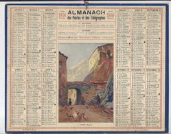 CALENDRIER ALMANACH DES POSTES 1936 CORTE CORSE  /FREE SHIPPING REGISTERED - Tamaño Grande : 1921-40