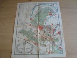 PLAN DES FORETS DE SAINT GERMAIN MARLY ET DES ENVIRONS - Cartes Géographiques