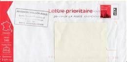 Lettre Prioritaire 20g - Sport - Volley Ball - Avignon - Vaucluse - 47K/16U349 - Enteros Postales