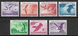 LIECHTENSTEIN    -   Aéros  -   1939 .   Y&T N° 17 à 23 *.   Oiseaux.    Série Complète. - Air Post