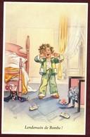 """Germaine Bouret  """" Lendemain De Bombe """" Enfant Se Réveillant   Carte Postale 1936 - Séphériadès N° 7 - Bouret, Germaine"""