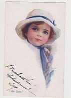 """Cpa Fantaisie Signée E.C.Brisley / """" Do Come"""" / Jolie Fillette Avec Chapeau - Illustrateurs & Photographes"""