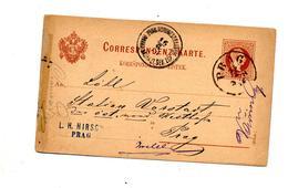 Carte Postale 2 Empereur Cachet Prag  + ??? - Entiers Postaux