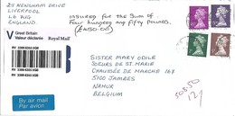UK 2002 Liverpool Machin Value Declared Registered Cover - Machins