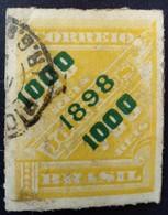 Bresil Brasil 1898 Timbre Journaux Surchargé Newspaper Stamp Overprinted Jornaes Yvert 97 O Used - Brazilië