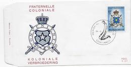 Enveloppe FDC 1967 Un Peu Jaunie Cachet Gentinnes - 1961-70