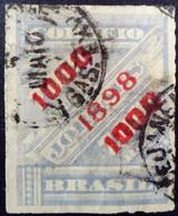 Bresil Brasil 1898 Timbre Journaux Surchargé Newspaper Stamp Overprinted Jornaes Yvert 98 O Used - Brazilië