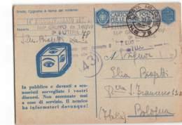 AG1271 01  POSTA MILITARE 78 - 14 RAGGRUPAMENTO ARTIGLIERIA 164 GRUPPO DA 149-19 X BOLOGNA - 1900-44 Victor Emmanuel III.