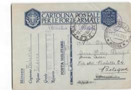 AG1307 01 FRANCHIGIA  REPARTO MISTO DEL GENIO GUARDIA ALLA FRONTIERA TOLMINO GORIZIA X CONCORDIA Poi BOLOGNA - 1900-44 Victor Emmanuel III.