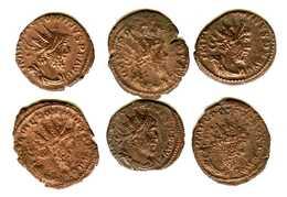 Monnaie Romaine De POSTUME 259-268  6 Monnaies - 5. L'Anarchie Militaire (235 à 284)