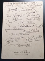 1936 Olympic Games Berlin Autograph URUGUAY WATER POLO TEAM (Brief Sport Wasserball Autographe Jeux Olympiques - Autogramme & Autographen