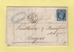 Sable Sur Sarthe - 71 - Sarthe - Pc 2767 - 25 Oct 1860 - Marcophilie (Lettres)