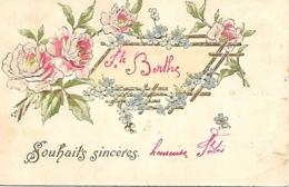 SOUHAITS SINCERES STE BERTHE  GAUFREE EN RELIEF - Fantasia