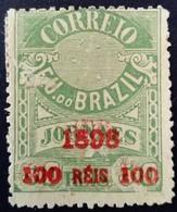 Bresil Brasil 1898 Timbre Journaux Surchargé Newspaper Stamp Overprinted Jornaes Yvert 103 (*) MNG - Brazil