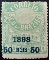 Bresil Brasil 1898 Timbre Journaux Surchargé Newspaper Stamp Overprinted Jornaes Yvert 102 * MH - Brazilië