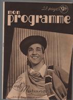 Revue Mon Programmen°483-31juillet 1948-radio-opéra-télévision-article LUIS MARIANO à Ses Débuts Voir SCANS - Cinéma & Télévision