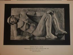 Aristide Maillol. Maquette Du Monument Aux Morts De Banyuls Sur Mer. Reproduction De Sculpture Imprimée.1961. - Andere Verzamelingen
