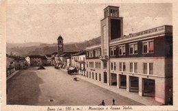 BOVES - MUNICIPIO E PIAZZA ITALIA - CUNEO - VIAGGIATA - Cuneo