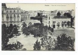 CPA - Tunisie - Tunis - Place De La Gare Française - Túnez