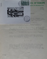R1949/1679 - CIRCULAIRE DU CONSEIL DE L'EUROPE - N°923 Avec CàD : CONSEIL DE L'EUROPE - STRASBOURG - 31 MAI 1952 - France