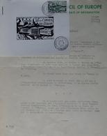 R1949/1679 - CIRCULAIRE DU CONSEIL DE L'EUROPE - N°923 Avec CàD : CONSEIL DE L'EUROPE - STRASBOURG - 31 MAI 1952 - Francia