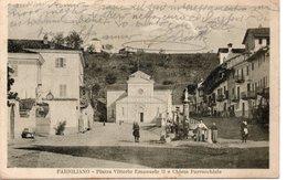 FARIGLIANO - PIAZZA VITTORIO EMANUELE II E CHIESA PARROCCHIALE - CUNEO - VIAGGIATA - Cuneo