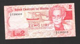 Malta - Malte - LM 2 - Zewg Liri - Banknote - 1967 - Used Condition - Malta