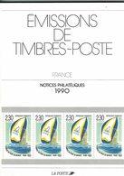 France, Notices Philatéliques Année 1990, 43 Fiches + Les Hors Série - Timbres